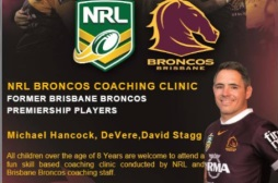 NRL Broncos Coaching Clinic